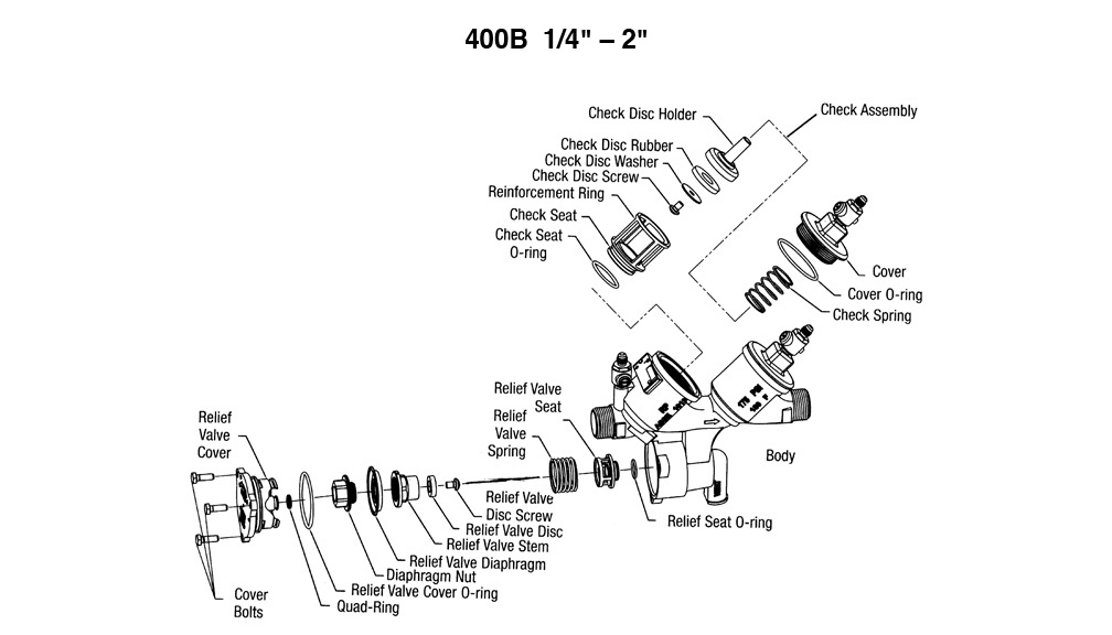 "Schematic for Ames 400B 1/4"" - 2"""